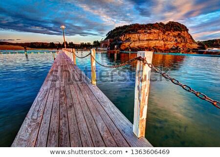 Sunrise Swim North Narrabeen Stock photo © lovleah