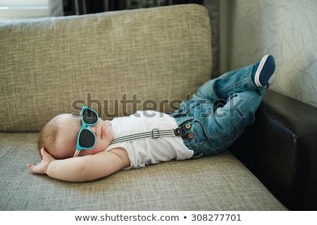 baby · jongen · spelen · speelgoed · gelukkig · maanden - stockfoto © leedsn