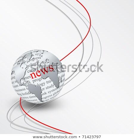 Bedrijf nieuws digitale gouden kleur tekst Stockfoto © tashatuvango
