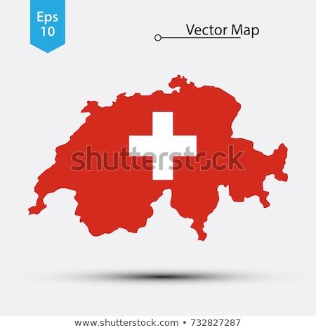 Швейцария небольшой флаг карта избирательный подход реклама Сток-фото © tashatuvango