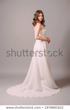Elegance. Young Lady in Long Classic Bridal Dress Stock photo © gromovataya