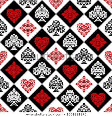 negro · rojo · tejido · póquer · mesa - foto stock © elenapro
