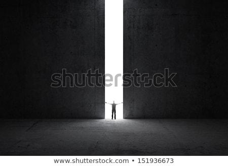 Beton fal kapualj fényes fény üzlet Stock fotó © cherezoff