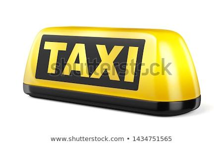 Taxi felirat 3D generált kép citromsárga Stock fotó © flipfine
