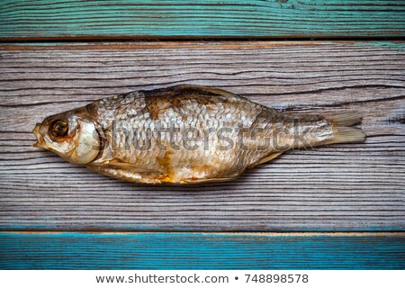 Kurutulmuş deniz balık yalıtılmış beyaz Stok fotoğraf © digitalr