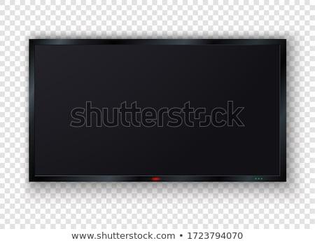 телевизор · белый · изолированный · 3D · изображение · телевидение - Сток-фото © ISerg