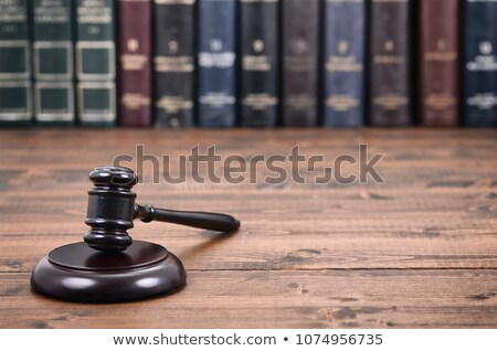 Symbol of law and justice in the library Stock photo © dzejmsdin