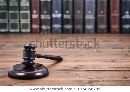 символ прав правосудия библиотека адвокат судья Сток-фото © dzejmsdin