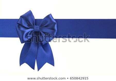 Meghívó keret kék szatén kép illusztráció Stock fotó © Irisangel