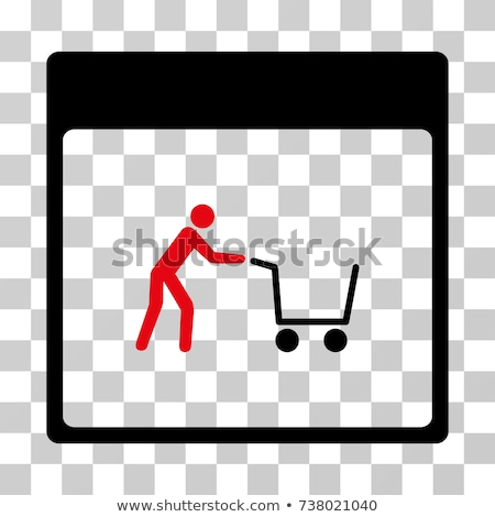 Add To Cart Red Sticky Notes Vector Icon Design Stock photo © rizwanali3d
