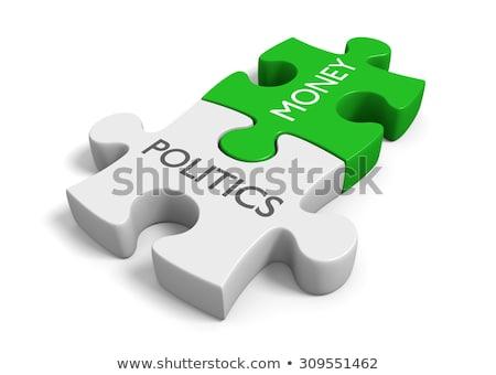 Politika puzzle kék kirakó darabok információ minta Stock fotó © fuzzbones0
