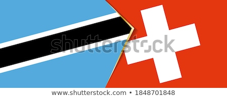 switzerland and botswana flags stock photo © istanbul2009