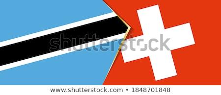 Switzerland and Botswana Flags Stock photo © Istanbul2009