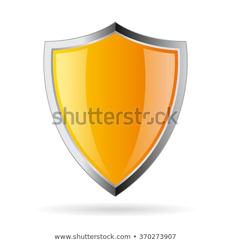 Pajzs felirat citromsárga vektor ikon terv Stock fotó © rizwanali3d