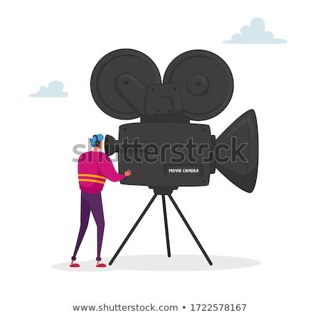 Filmadora caucasiano vídeo Foto stock © RAStudio