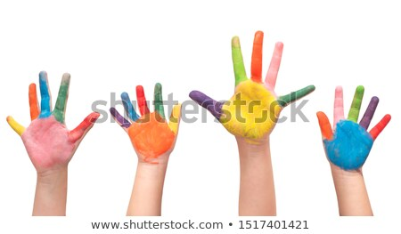 little girl with lifted hands closeup Stock photo © Paha_L