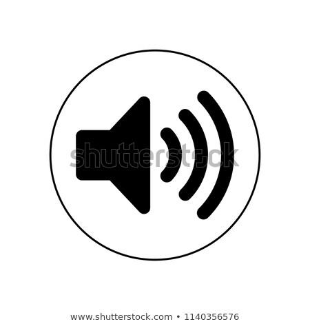 Сток-фото: Sign With Megaphone And Volume Control