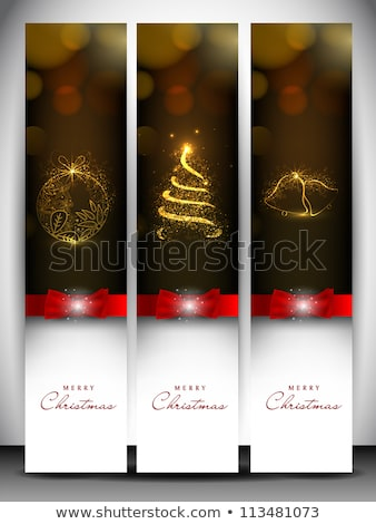 Karácsony szett hóesés eps 10 vektor Stock fotó © beholdereye