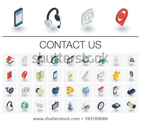 komunikacji · 3D · ikona · wektora · projektu · pomysły - zdjęcia stock © ExpressVectors