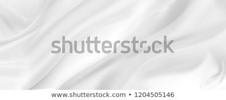 Fehér szatén közelkép szövet textúra terv Stock fotó © zven0