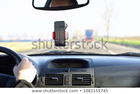 Okostelefon műszerfal autó közelkép mozgás út Stock fotó © nito