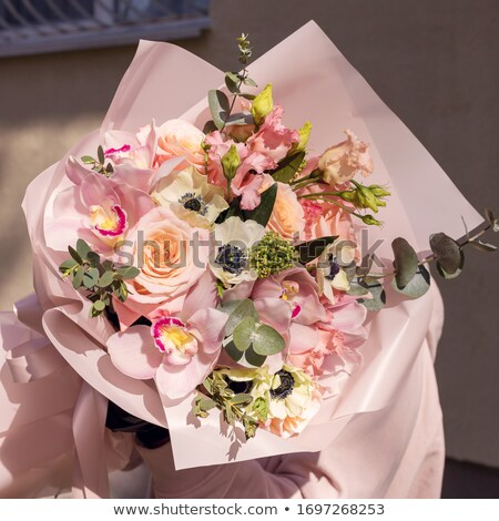 Bride Holding Luxuriant Bouquet of Flowers  Stock photo © dariazu