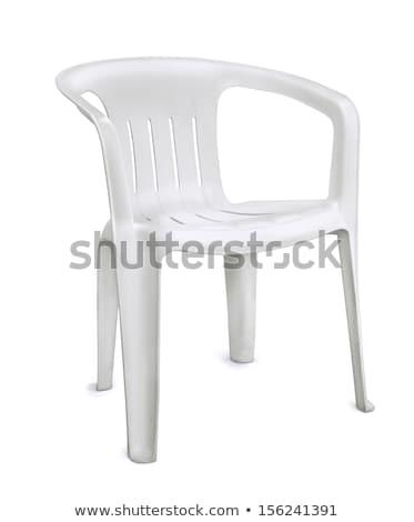 белый · пластиковых · стульев · фото · пусто · местный - Сток-фото © luissantos84