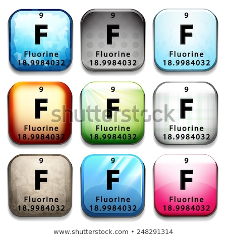 An icon showing the element Flourine Stock photo © bluering
