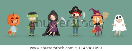 girl with witch costume on halloween stock photo © adrenalina