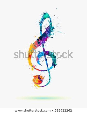 Colorful Clef Sign Illustration Stock photo © cidepix