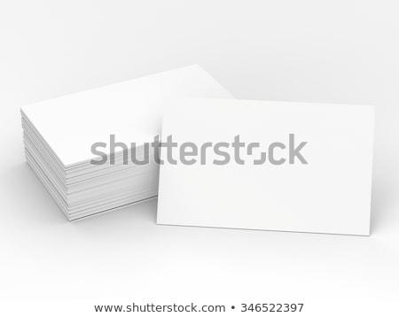 En az model şirket kartvizit iş baskı Stok fotoğraf © SArts