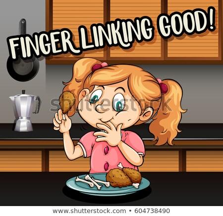 Pharse on poster for finger linking good Stock photo © bluering