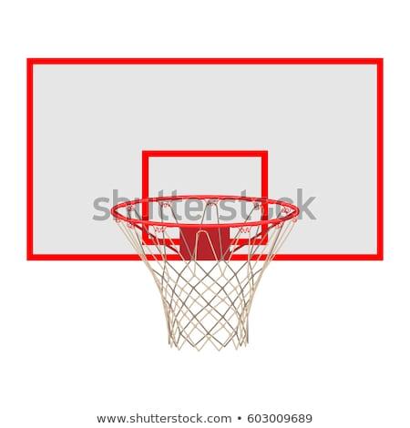 Speeltuin basketbal outdoor metaal witte spel Stockfoto © brianguest