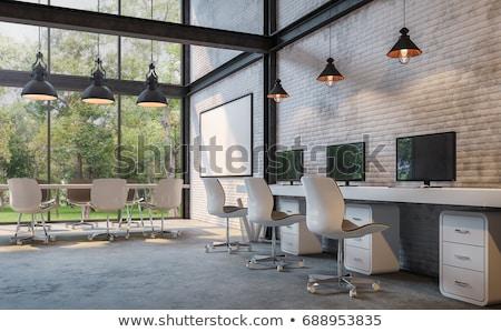 3d render reunião de negócios belo escritório espaço brilhante Foto stock © danilo_vuletic
