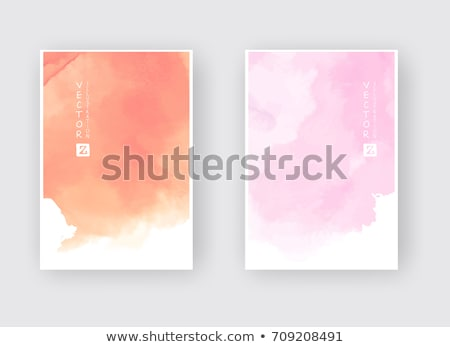 Watercolor blot isolated on white background. Pink and orange wa Stock photo © Yatsenko