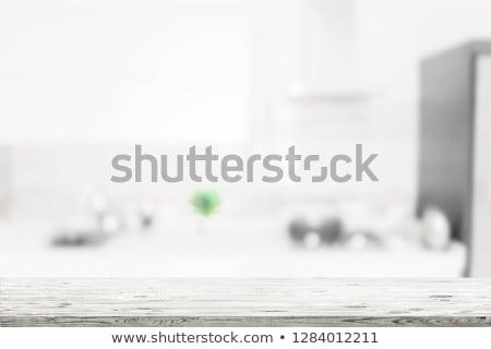Blured kitchen background Stock photo © neirfy