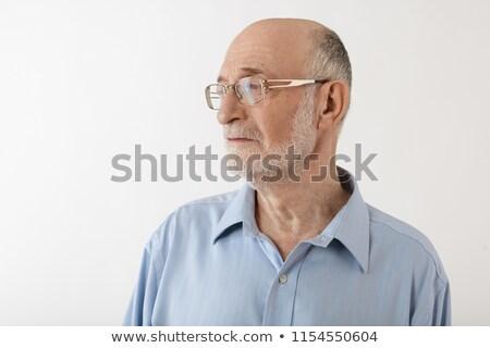 Nadenkend gelukkig volwassen man vergadering witte Stockfoto © wavebreak_media