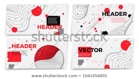 cover template in minimal style with abstract line shapes and co Stock photo © SArts