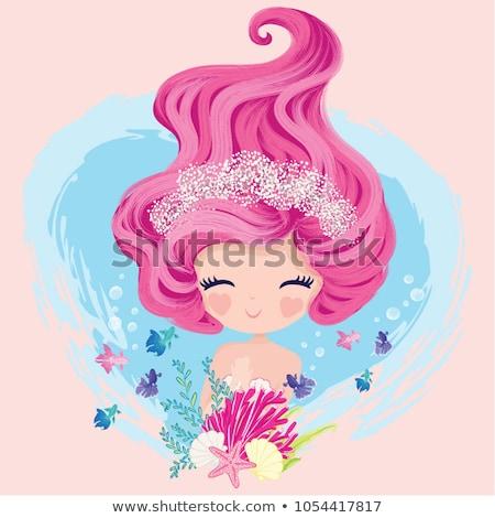 vector · silhouetten · zeemeermin · water · vrouwen · zee - stockfoto © ddraw