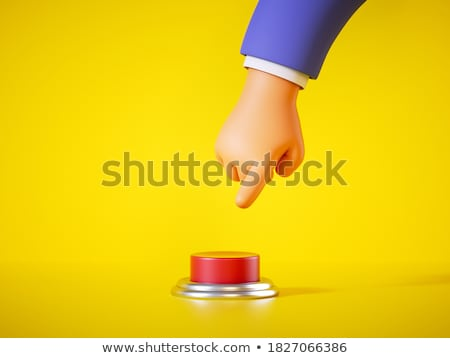 Hand Touching Protection Button. 3D. Stock photo © tashatuvango