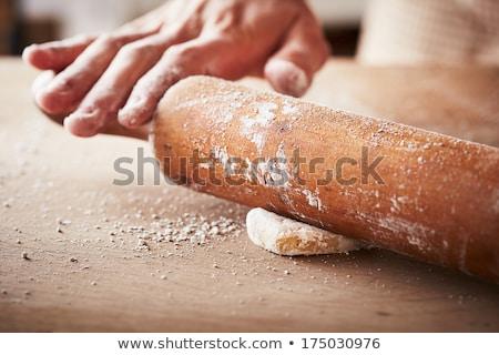 Kéz sütés sodrófa közelkép nő étel Stock fotó © wavebreak_media