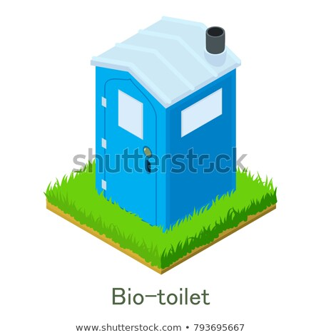 Bio Freien WC Vektor Illustration isoliert Stock foto © konturvid
