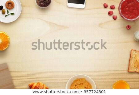 vers · geheel · bloemkool · houten · rustiek · top - stockfoto © yelenayemchuk