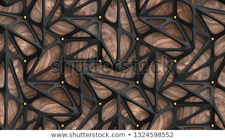 Abstract wood sphere. 3d illustration, on black Background. Stock photo © tussik