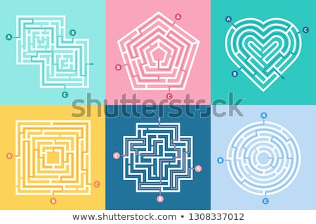 Maze right way hearts Stock photo © Olena
