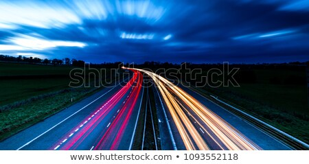 Stock photo: A blurred motorway