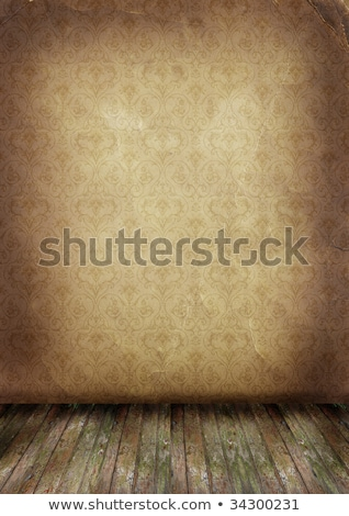old wall and floor. There is an empty seat for design  Stock photo © rufous