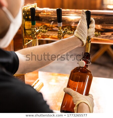 man with a plate of bread and sardines Stock photo © nito