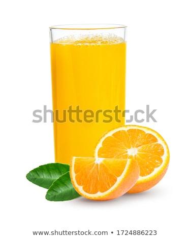 üveg · üveg · nyers · organikus · friss · narancslé - stock fotó © DenisMArt