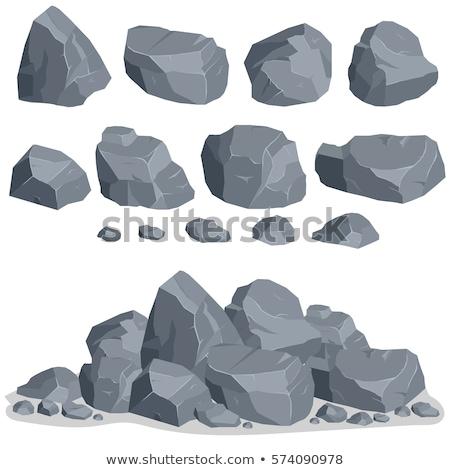 серый · камней · набор · рок · Элементы · различный - Сток-фото © andrei_